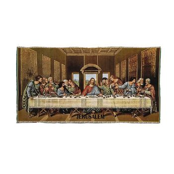 Good Quality Last Supper Durable Religious Fabric Painting Designs
