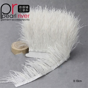 Wholesale Feather Decorations Fringe Free Sample Customized OEM Ostrich Feather Trim