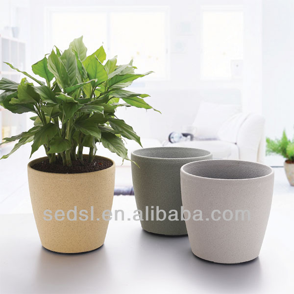 Plastic Decorative Planters,Indoor Flower Pot,Round Flowerpot ...