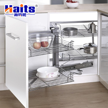 Hardware Furniture Accessories Stainless Steel Kitchen Drawer Basket