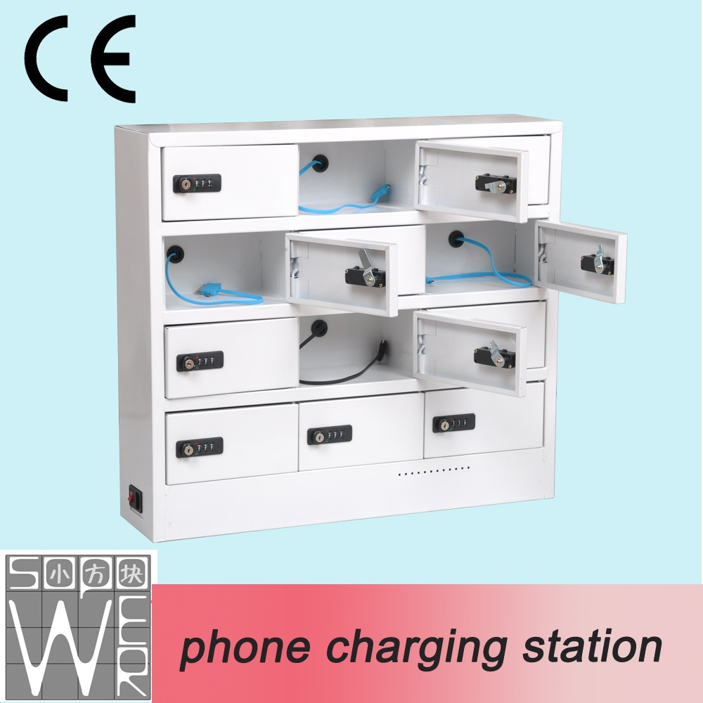 Public 12 Bay Mobile Phone Charging Vending Machine Locker