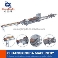 automatic ceramic squaring and chamfering sizing machine for double side with one pair chamfering