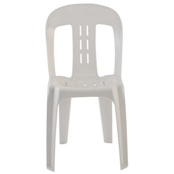 Stacking Armless White Plastic Chair Chairs