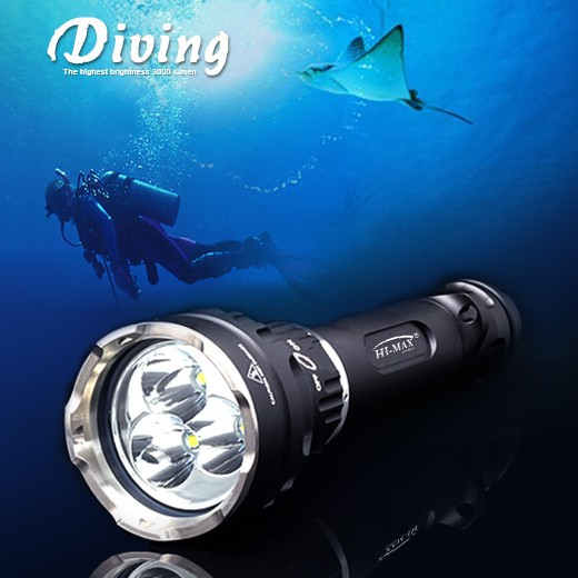Hi-Max High performance Diving Scuba Flashlight / Diving Torch/ Diving Lamp