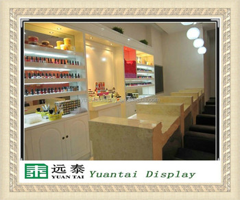 Simple Design Layout Nail Bar Kiosk For Manicure