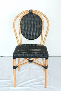 Aluminum Frame Imitation Bamboo Rattan Chair/outdoor Cafe Or Restaurant  Bamboo Imitation Wicker Coffee Chair