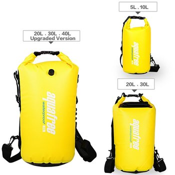 Leader Accessories New Heavy Duty Vinyl Waterproof Dry Bag for Boating  Kayaking Fishing Rafting Swimming Floating 96a61f7e64a34