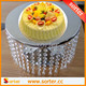 New products wholesale hanging clear crystal wedding cake stand