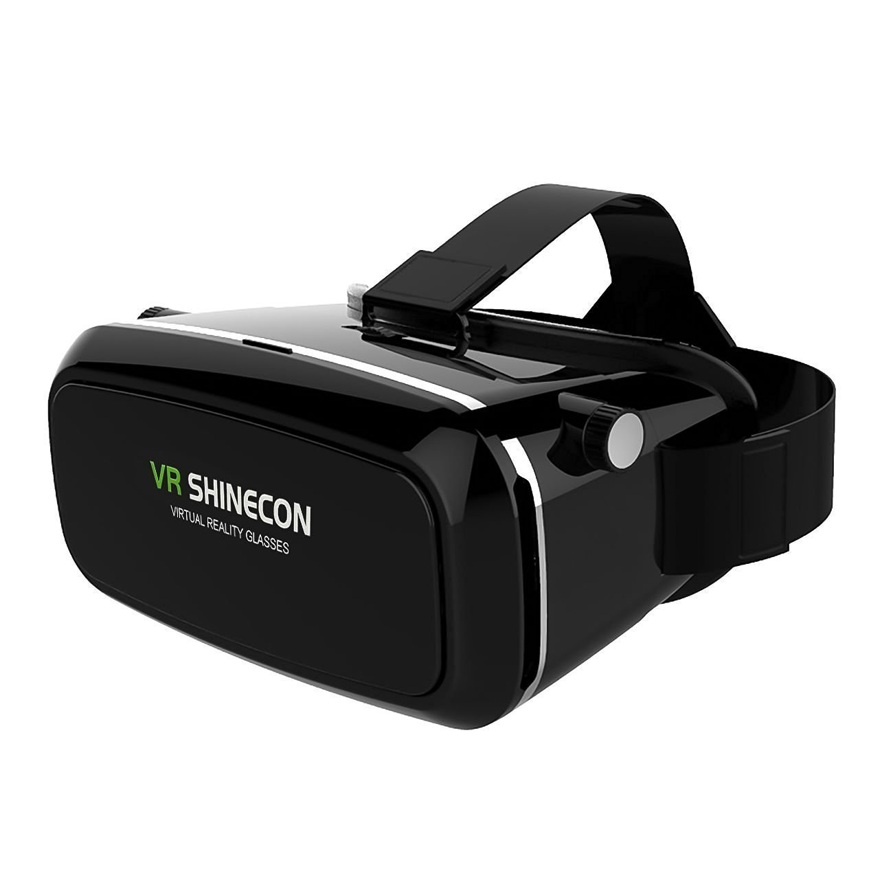 """3D VR SHINECON Virtual Reality Immersive Glasses Headset with Adjustable Strap for 3D Videos Movies Games Compatible Most 3.5""""-6.0"""" iPhone, Samsung, HTC, LG, Sony, Huawei, Moto Smartphone (Black)"""