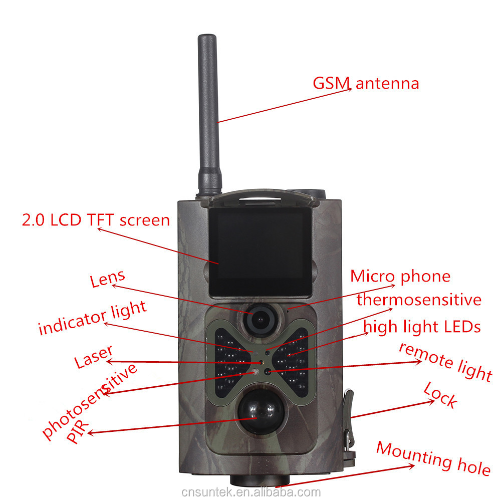 Wholesale Suntek 12MP MMS/GSM/GPRS/E-mail SMS Command Night Vision Hunting Camera HC550M