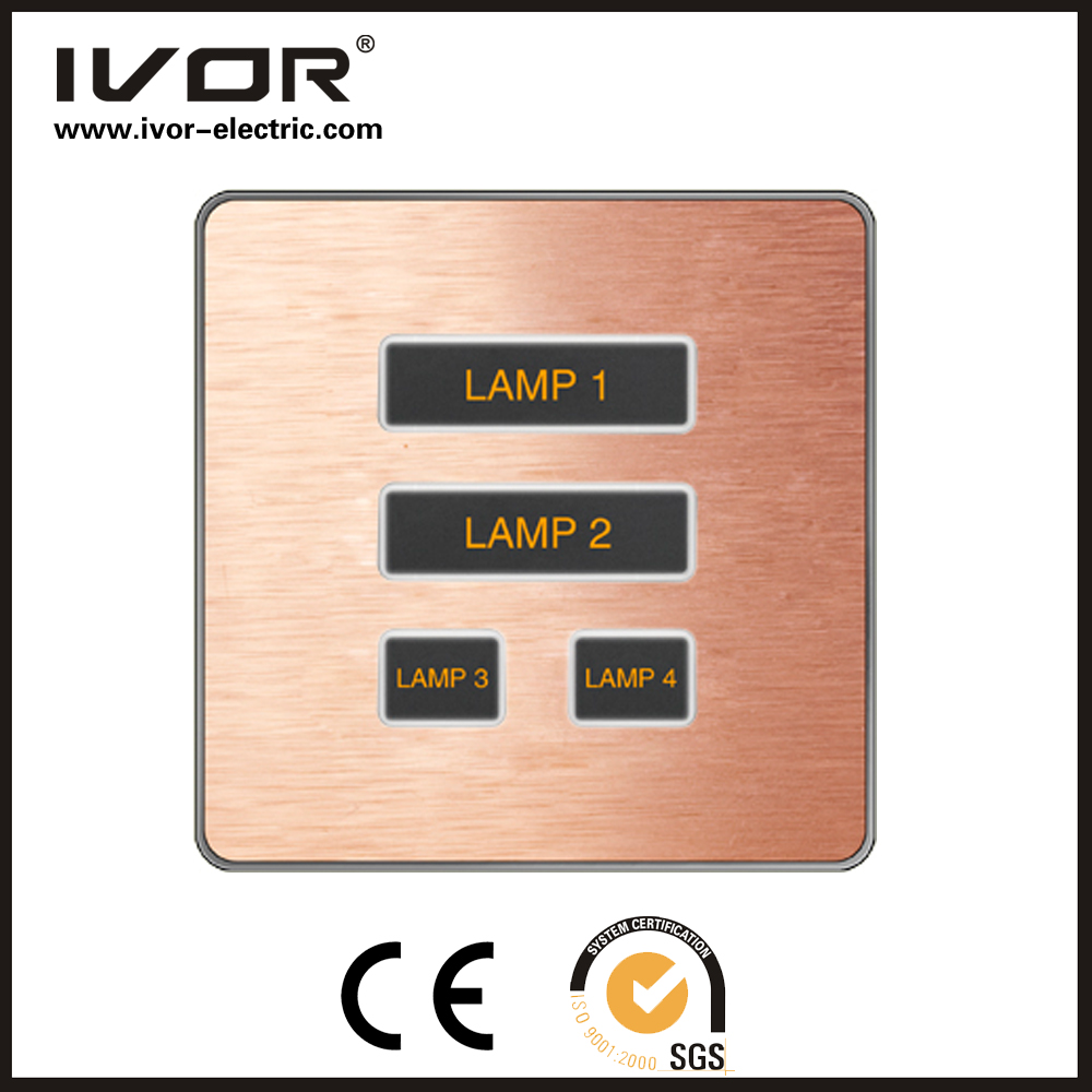 Good Quality Ivor 4 Gang 2 Way Touch Panel Light Switch