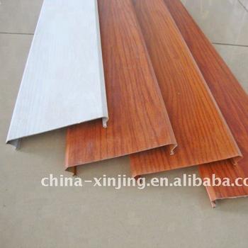 Aluminum Wood Grain Lath False Ceiling Board