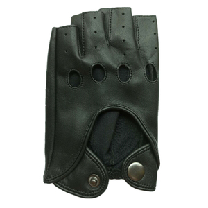 The Fall Merchandise Ladies Sheepskin Leather Black Cycling Half Finger Gloves