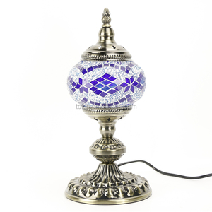 2017 New Tokin-lighting (TC1M01-5) Handmade Mosaic Art Turkish LED table mosaic Lamps