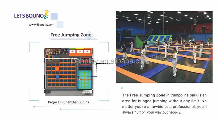 Equipamento interno da ginástica do parque do trampolim do tamanho feito sob encomenda para crianças