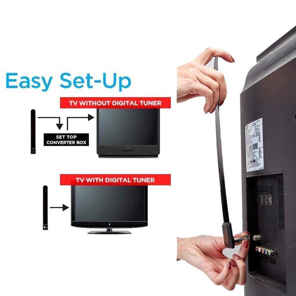 FidgetFidget Antenna TV Accessory Clear TV Key HDTV FREE TV Digital Indoor Ditch Cable On TV