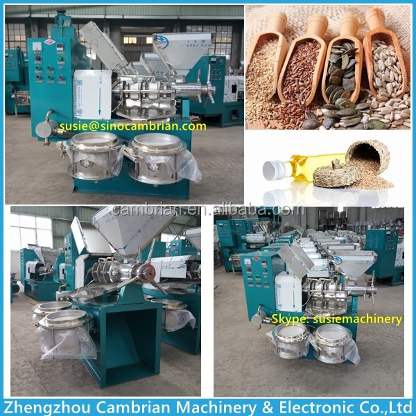 Large capacity used oil expeller with auto feeding elevator