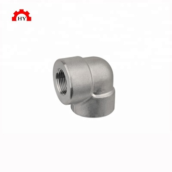 Good quality ss316 3000 lbs forged stainless steel screwed elbow fitting