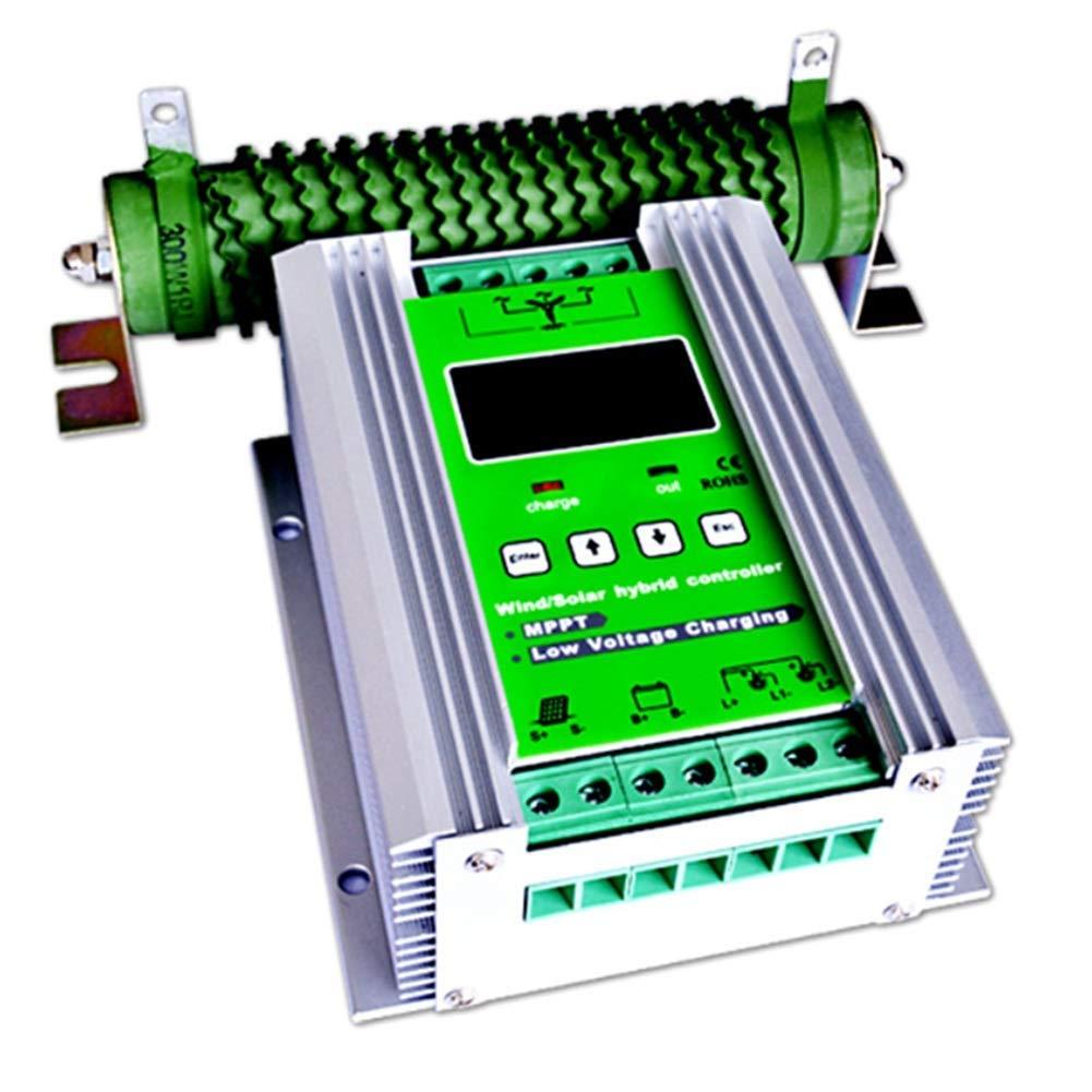 Dig Dog Bone 1000W MPPT Wind Turbine Solar Charge Controller 600W Wind Turbine 400W Solar Charge Controller 12V/24V Auto Boost Hybrid Controller with Free Dump Load
