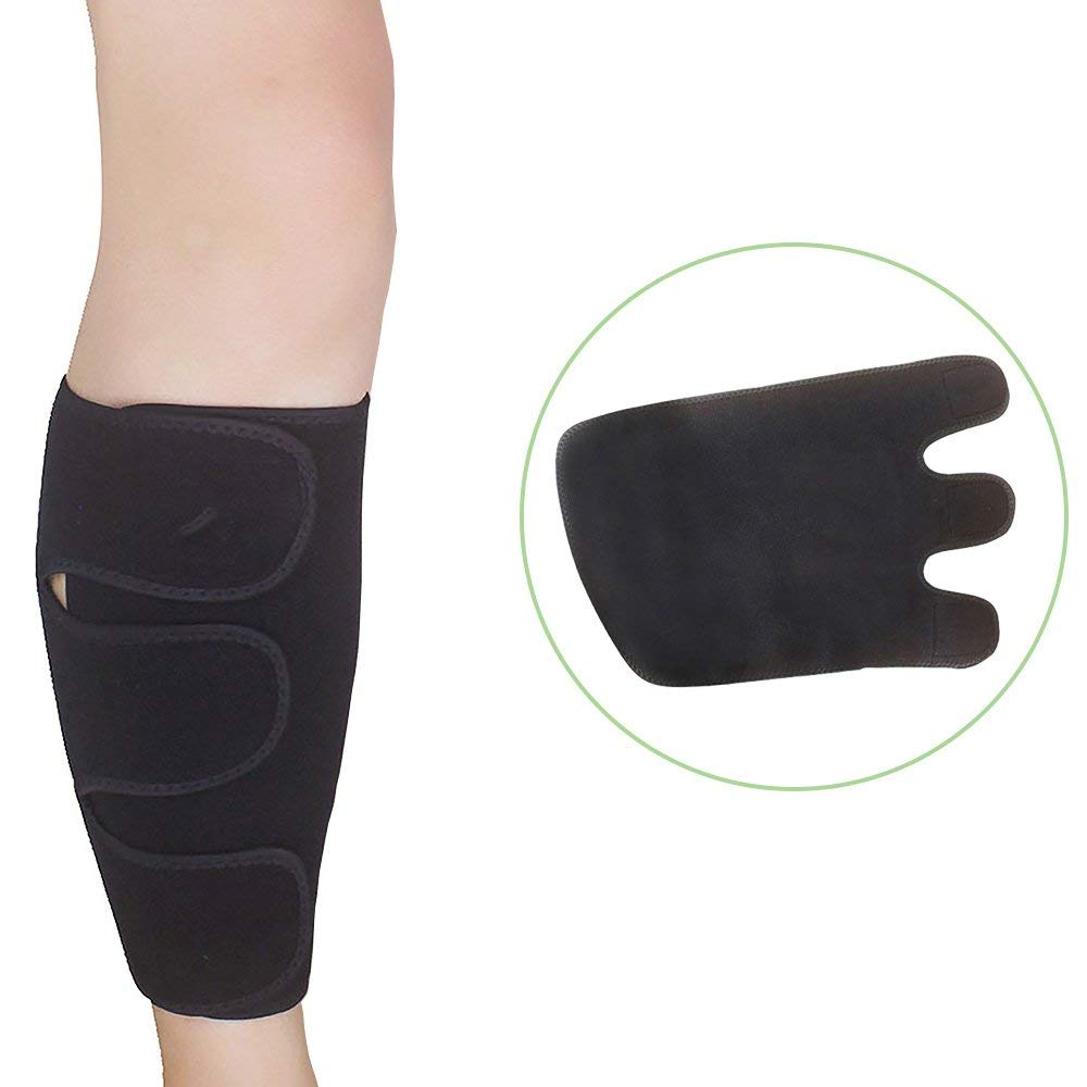 6841f579f5 Get Quotations · Enshey Calf Brace Adjustable Compression Wrap Support Calf  Shin Support Brace Leg Sleeve Wrap Band Muscle