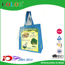 Promotional wholesale laminated fashion reusable gift PP woven material shopping bag