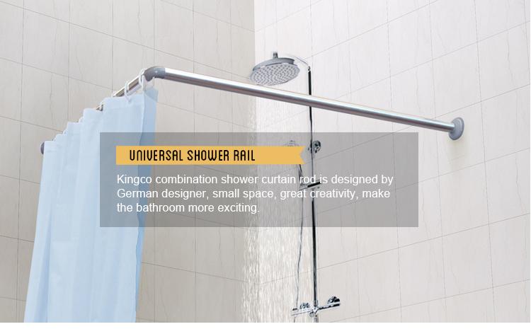 L Shaped Corner Shower Curtain Rod