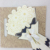 2016 New design flower shaped wooden wedding card with butterfly ribbon/Shine paper wedding card