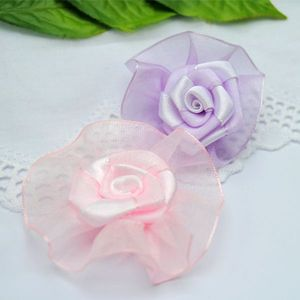 factory wholesale ribbon for garment accessories organza flowers