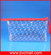 plastic necessarie cosmetic creams packaging zipper bag with banding
