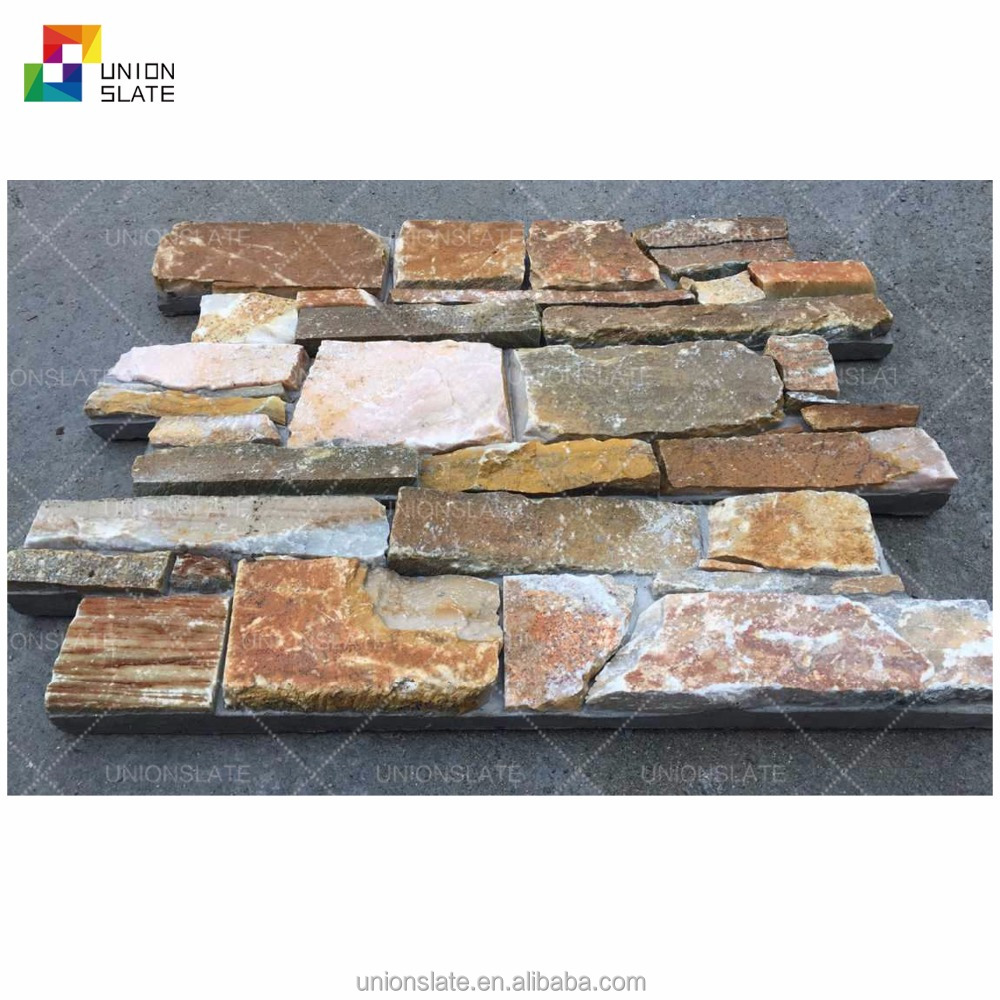 Ledge cement panel stacked stone decorative wall panels
