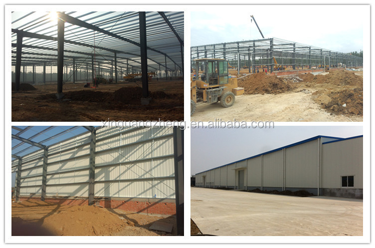 Large space span customized steel frame workshop project