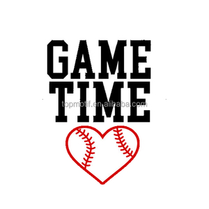 Love Game Time Baseball vinyl iron on transfer designs