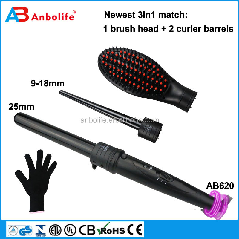 Hot brush for hair straightener, negative ion electric straightening hair brush and comb