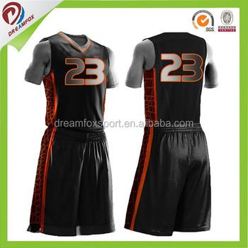China Manufacturer Basketball Wear Basketball Jersey Black Color ...
