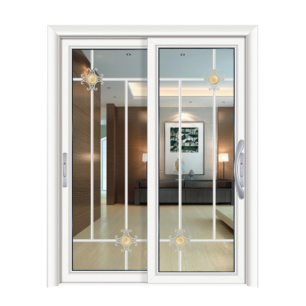 Kayu Modern Desain Kaca Depan Putih Aluminium Pintu Geser ...