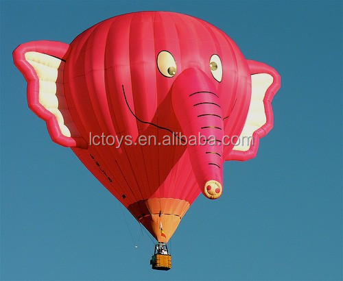 Pink inflatable helium elephant balloon for advertising