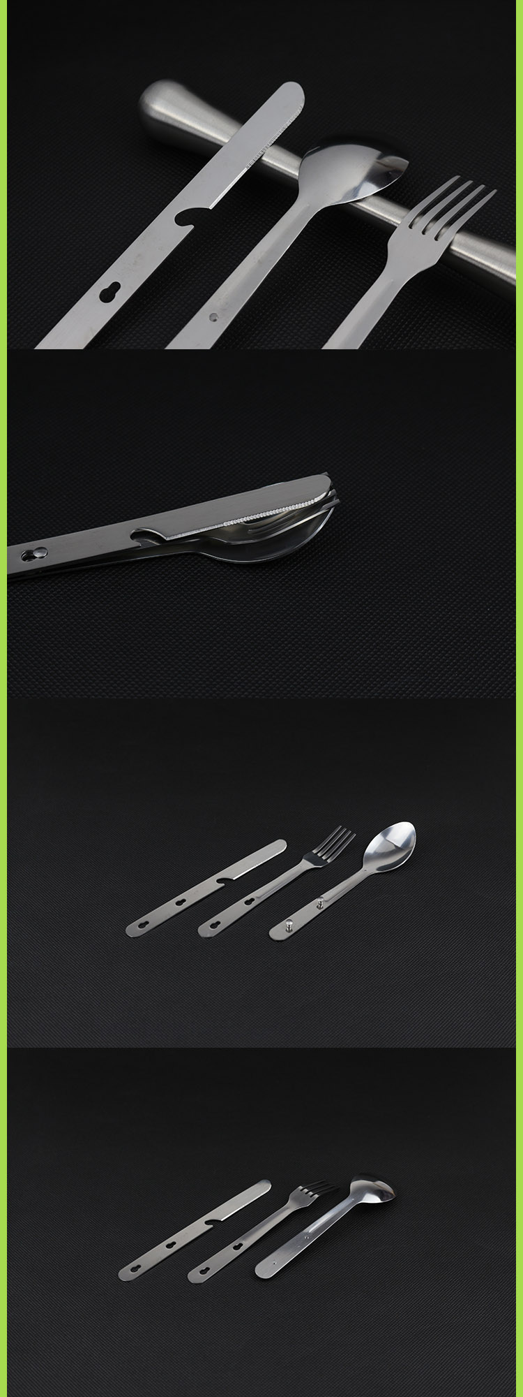 Stainless Steel Travel Portable Camping Cutlery Fork Knife Spoon Set