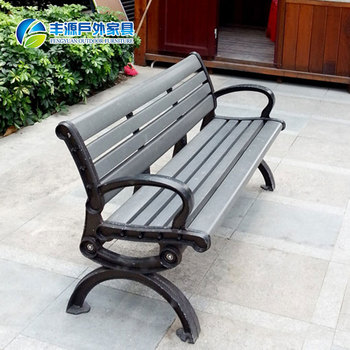 Best Quality Cast Iron And Wood Covered Outdoor Park Bench Colorful