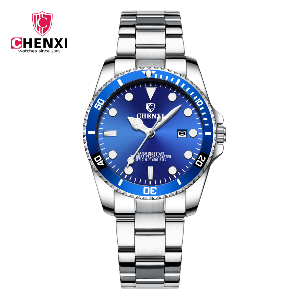 CHENXI 085A Lady's Fashion&Casual Watch Japan Quartz Stainless Steel Band Watch Auto <strong>Date</strong>