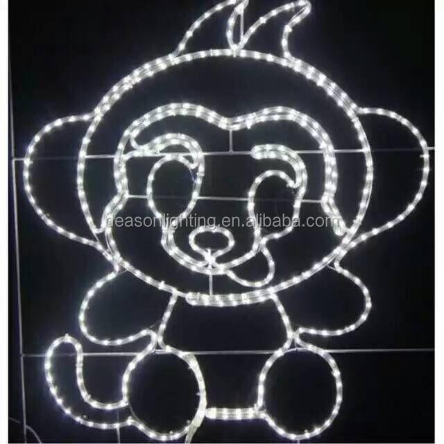 Christmas Led Figures Monkey Rope Light Motif