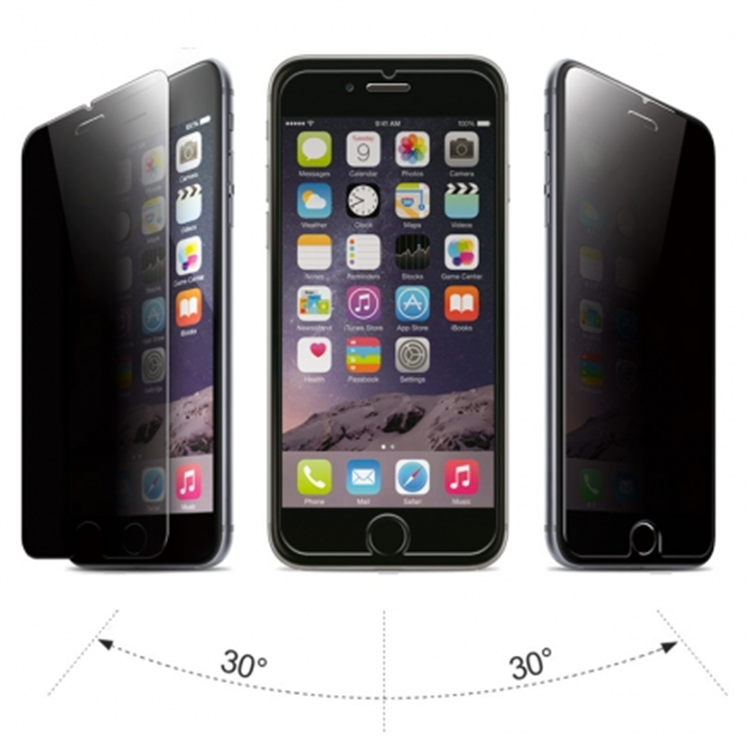 2.5D Curved Protective Privacy tempered glass Waterproof Anti Scratch Screen protector for Iphone6 plus