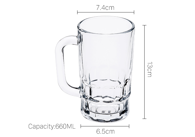 Beer Drinking Glass Mug With Handle 360ml Shot Glasses Drinking Glass Water Cup