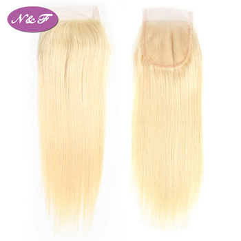 YF Wholesale Cheap Price 613 Blonde Lace Closure 4*4 Remy Human Straight Hair Malaysian Human Hair Extension