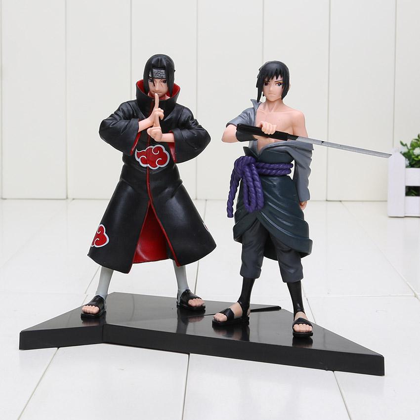 Anime monstruo Cosplay Uzumaki Naruto Uchiha Sasuke figura PVC