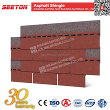 Sunset Red 2016 Modular House Roof Tiles Asphalt Shingles Manufacture