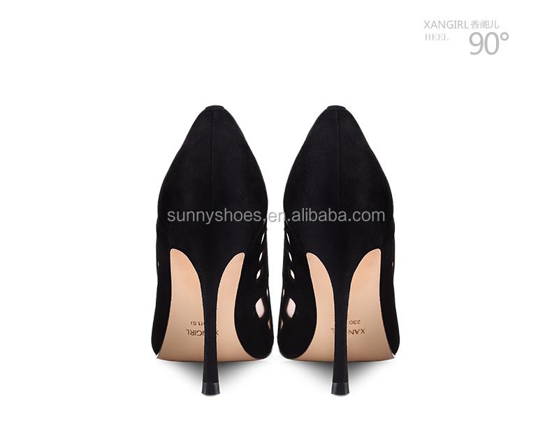 pointed black pumps women toe stiletto shoe 2017 heel dress high sexy ladies RwqxwfpdY