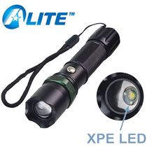 Super Bright LED Zoom Dimmer Rechargeable Tactical Police Flashlight