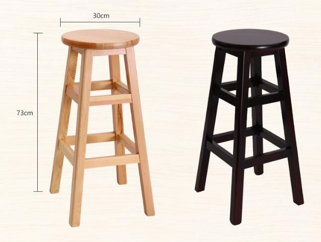 Enjoyable Wholesale Customized Brown Color Solid Wooden Bar Furniture Bar Stools Design Cheapest Bar Stool Hign Chair Buy New Design Solid Wood Bar Caraccident5 Cool Chair Designs And Ideas Caraccident5Info