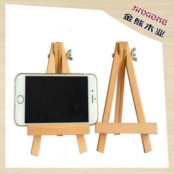 Mini Wood Art Easel For Mobile Phone Stand