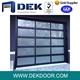 glass panel full view garage door automatic open